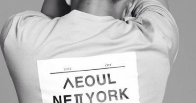 Korean brand TShirt by Yoo Ah In uses Korean alphabet blended with well-known places name in such a readable way, lovely